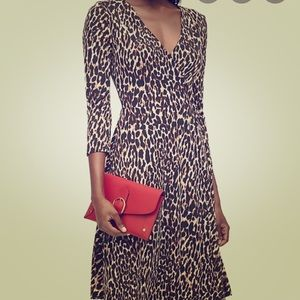 Banana Republic leopard wrap dress